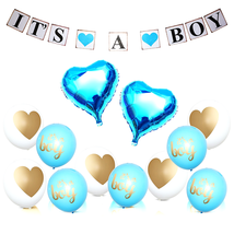 Party Supplies Baby Boy Baby Shower Decorations Decorating Kit Banner Ba... - ₨981.54 INR