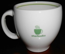 2003 Starbucks GREEN STARBUCKS CUP LOGO 12 oz Handled MUG - $14.84