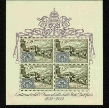 VATICAN 1952 155A MNH STAMP ON STAMP SHEET HORSES STAGECOACH S12659-AA - $123.75