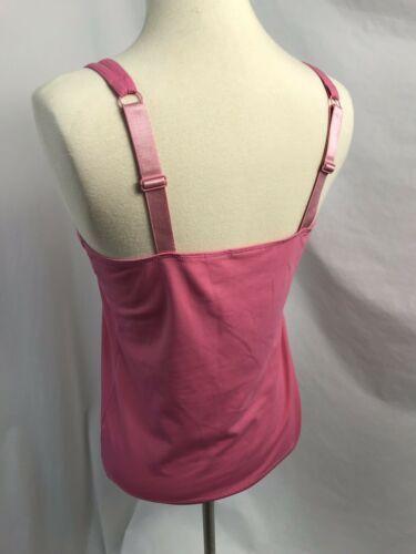 Chico's Pink Spaghetti Träger Unterhemd, Größe 0, Passt Damen Size 4
