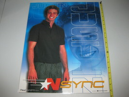 "Vintage N*SYNC Justin Timberlake MEAD Laminated Poster 2000 Rare 19.5"" x... - $31.67"