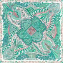 Hermes Carre 90 Scarf Stole Le Jardin de la Maharani Annie Faivre Emeral... - $12.157,11 MXN