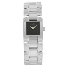 Movado Eliro Square Black Dial Stainless Steel Ladies Quartz Watch 84-A1... - $474.05