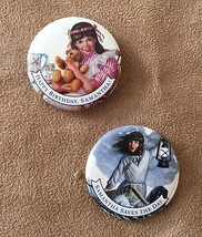 Pleasant Company vintage Samantha Pin American Girl doll button lot 2 pinback - $14.50