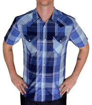 BRAND NEW LEVI'S MEN'S CLASSIC CASUAL BUTTON UP PLAID BLUE SHIRT 3LYSW6062-DBLU