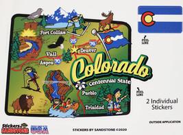 Colorado State Map Die Cut Sticker - $4.20