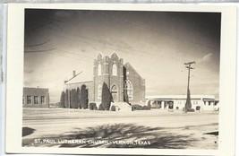 RPPC Postcard Vernon Texas TX St Paul Lutheran Church Kodak Real Photo - $5.94