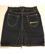 Budweiser Women's Denim Blue Jean Skirt NWT Size 11 XL Dark Wash Mid Thigh - $19.98