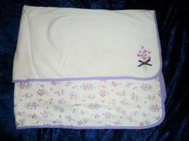Vintage Gymboree 2006 Pocket Full of Posies Baby Girl Cotton Blanket Purple - $79.19