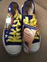 CONVERSE Jack Purcell Classic Blue Punk Not Dead Painted Canvas Shoes Me... - $49.95