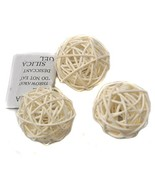 Ougual Set of 6 Wicker Rattan Balls Table Wedding Party Christmas Decora... - $17.27