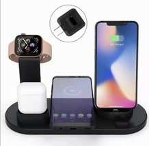 Wireless Charger 4in1 Charging Station Dock Pad For Samsung Iphone Airpo... - $24.40