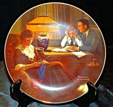 """1983 """"Father's Help"""" by Norman Rockwell Plate with Box ( Knowles ) AA20-CP2189 V image 8"""