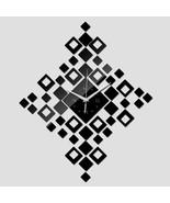 Large Diamond Mirror Effect Wall Clock Diamonds Watch Modern Design Livi... - $18.77