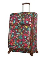 Lily Bloom Luggage Large Expandable Design Pattern Suitcase With Spinner... - $112.56