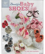 Annie's Attic Crochet Pattern Booklet-Beautiful Baby Shoes-9  Great Pairs - $8.56