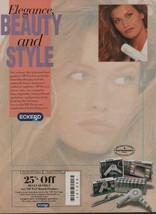 1992 Eckerd Drug Store Brand Vintage Magazine Ad Page VIP Pro Hair Appli... - $4.47
