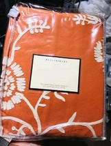 Pottery Barn Floral Embroidered Duvet Cover Clementine Orange Queen Crew... - $189.00