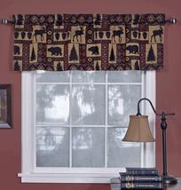 "Cabin Pine Retreat Lodge Tapestry Window Valance, Modern Rustic 54""x16"" ... - $19.98"