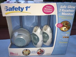 Safety 1st Safe Glow Baby Monitor & 2 Receivers Model 08039 White/Blue NIB - $24.74