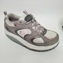 Skechers Shape Ups US 8.5 Womens Gray Pink Walking Rocker Shaper Shoes 1... - $29.55