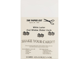 The Paper Cut White Luster Oval Window Shaker Cards Kit Set of 10