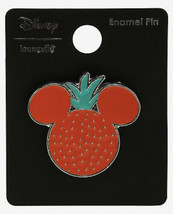 Disney Loungefly Fruit Mickey Mouse Ears Strawberry Silver Tone Metal En... - $16.33
