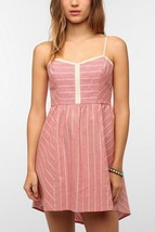 URBAN OUTFITTERS COPE DRESS STRIPED LINEN SUMMER DRESS Sz XS - £13.94 GBP