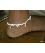 ethnic silver anklet feet bracelet ankle chain anklet pair feet chain - $166.32