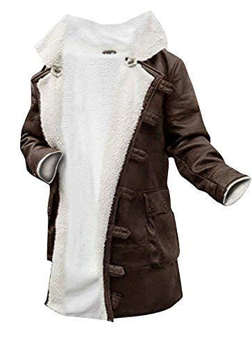 Bane Dark Knight Rises Antique Tom Hardy Fur Shearlig Brown faux Leather Coat