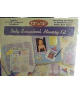 """12"""" X 12"""" Postbound Scrapbook Baby Memory Book Kit & Much More Accents S... - $21.49"""