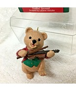 1991 Hallmark Fiddlin Around Bear Christmas Tree Ornament MIB w Price Ta... - $12.38
