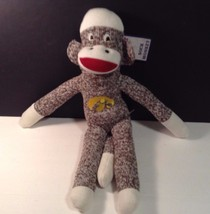"NWT Jenkins Game Day Outfitters Sock Monkey Iowa Hawkeyes 18"" tall Cute - $15.88"