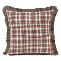 "Tacoma Fabric Ruffled 16"" Pillow - Barn Red, Dark Brown, Creme - VHC Brands - $450,08 MXN"