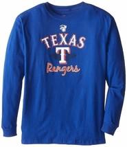 New Mens Majestic Royal Blue Texas Rangers MLB Team Logo Long Sleeve 4XL... - $17.99
