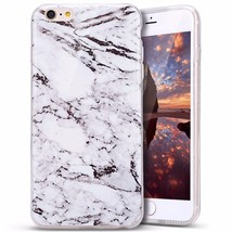 Iphone 7 Case White Marble Pattern Soft TPU - $5.59