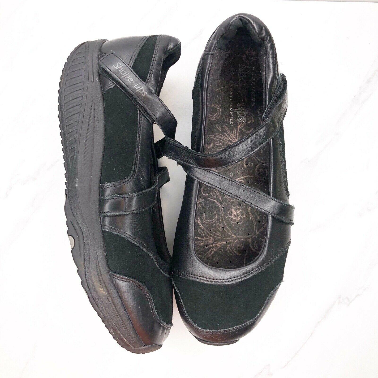 Skechers Shape Ups Mary Jane 7.5 Black Shoes Womens Sneakers Toning Rocker
