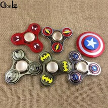 5Pcs/1lot New Tri-Spinner Fidget Avengers Toy Pattern Hand Spiner - $48.87