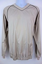 Footjoy Golf Light Jacket Beige Tan Men's Pullover Size Large - $22.85
