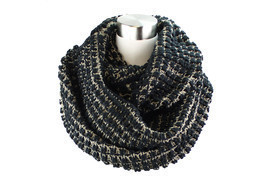 Two- Tone Big Knit Infinity Scarf - £10.60 GBP