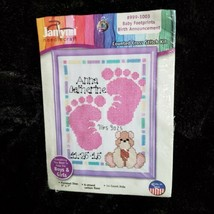 Janlynn Baby Footprints Boy or Girl Birth Announcement Counted Cross Kit... - $8.58