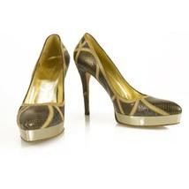 Gucci Snakeskin Lizard Croc Patchwork Formal Platform Pumps Heels shoes size 37 - $444.51