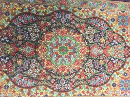 DEAL SALE ART Persian rug Qom 100% natural silk hand made hand knotted - $301.95