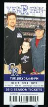 Colorado Rockies vs St Louis Cardinals MLB Ticket w Stub 07/31/2012 Year Fan - $8.17