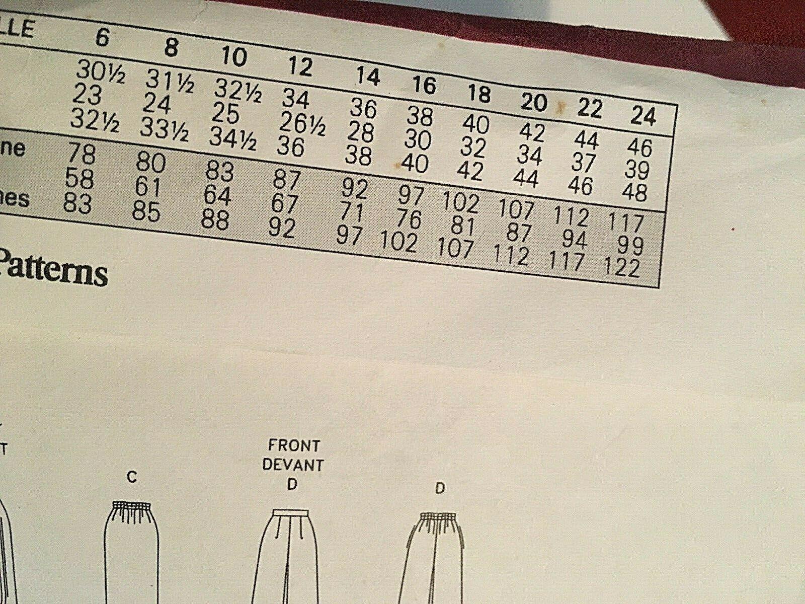 Vogue Sewing Pattern  # 1426 SZ 20-22-24 Dress, Top, Pants, Skirt. Jacket Uncut image 9