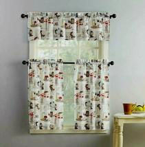 Mainstays Coffee Shop 3 Piece Kitchen Curtain Set - $19.79