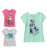 Minecraft Girls T-Shirts 3 Shirt Choices Sizes XS 4-5, S 6-6X or M 7-8 NWT - $9.09