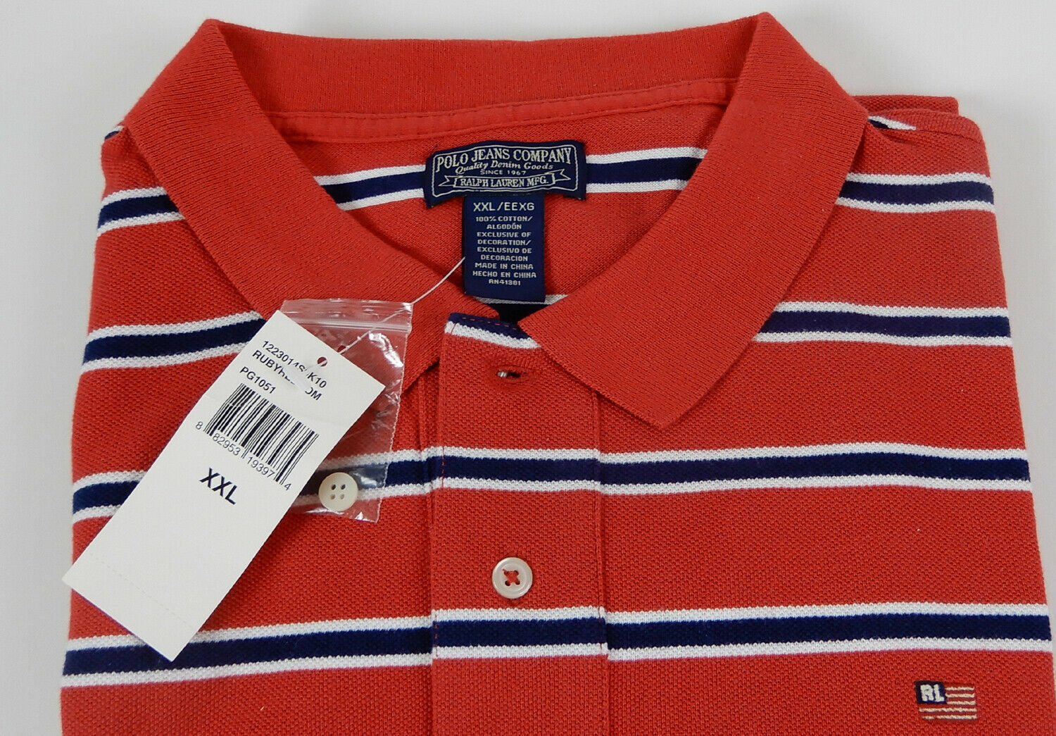 Ralph Lauren Men's Polo Shirt Ruby Red New With Tag Size XXL