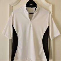 Stylish Womens Golf & Casual Short Sleeve Mock Polo with Rhinestone Zipper  - $29.95
