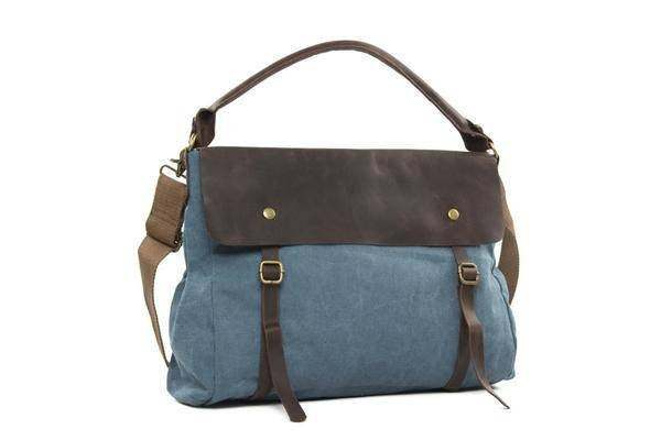 On Sale, Fashion Canvas With Leather Shopping Bag, Messenger Bag, Leather Briefc image 2